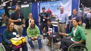 Field Trip Participants at the IAGD-COGE booth (image credit www.theIAGD.org)
