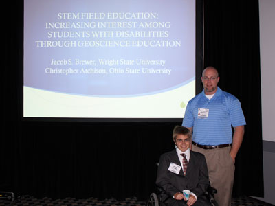 Jacob B., an undergraduate Human Factors Psychology student at Wright State University with Chris Atchison
