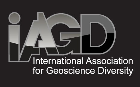 The IAGD logo on a black background.
